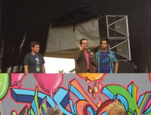 27. August 2011 – Graffiti für gedeckte Teller: tellerlein deck dich auf dem Chemnitzer Stadtfest